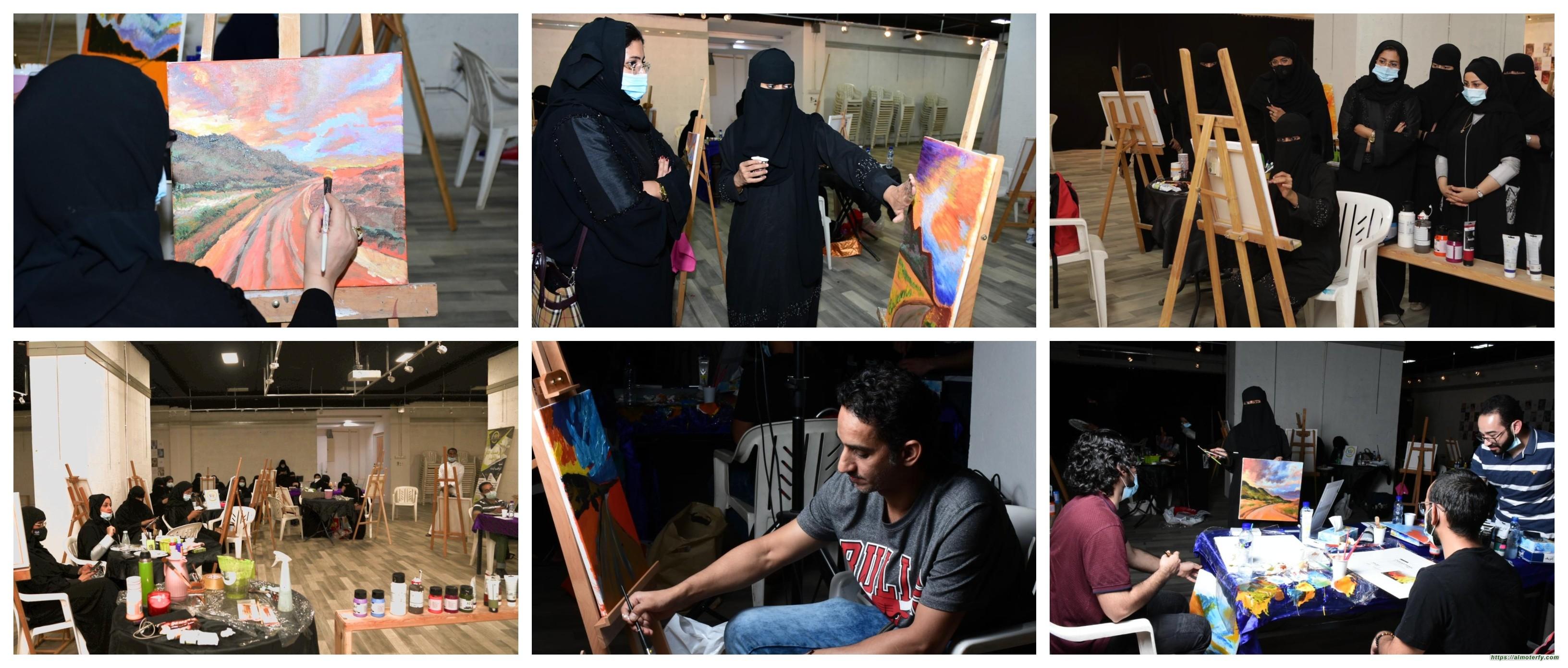 همسات الثقافي وجمعية الثقافة والفنون بالأحساء يقدمان ورشة فن الاكريلك