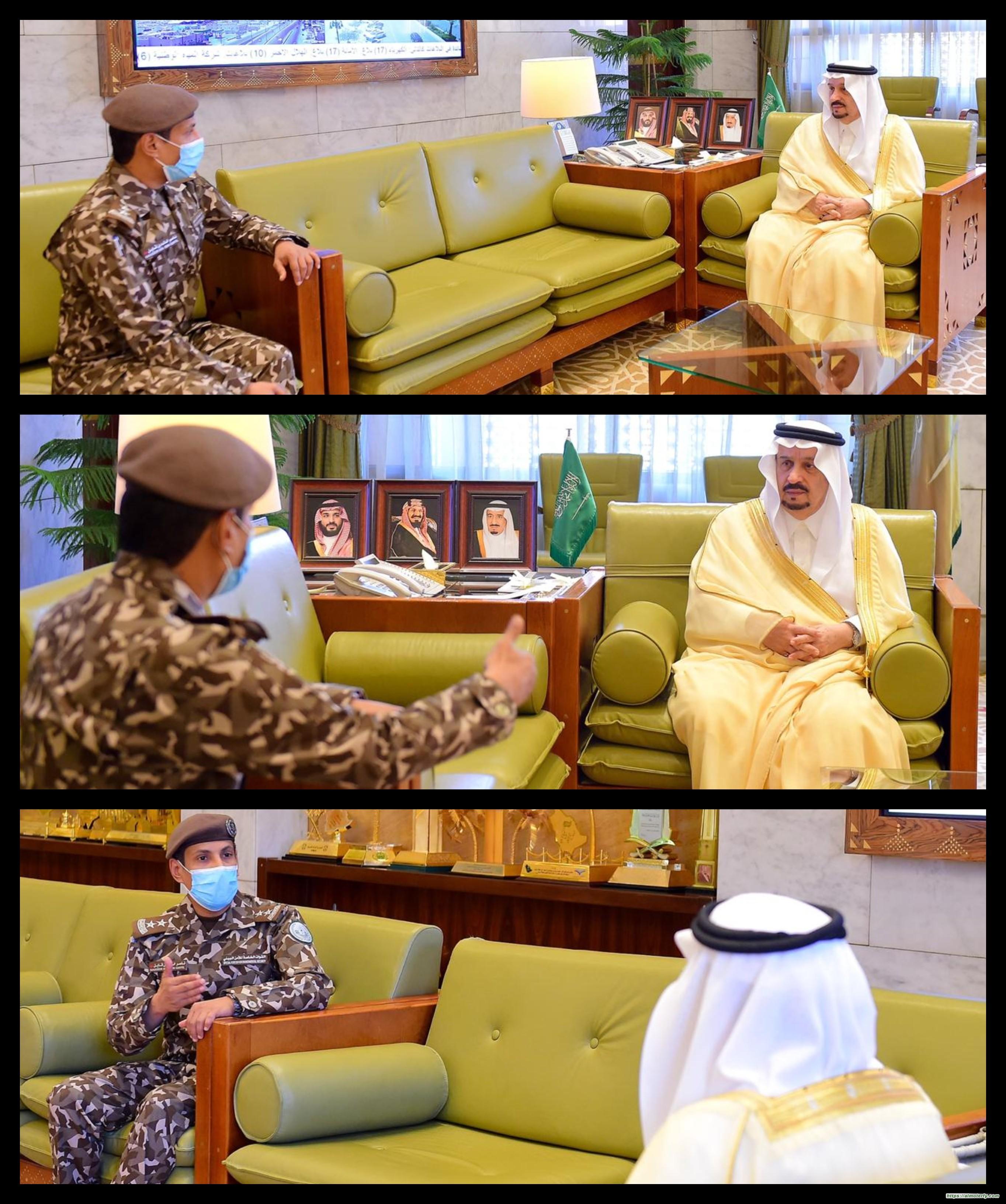 سمو أمير منطقة الرياض يستقبل قائد القوات الخاصة للأمن البيئي بالمنطقة