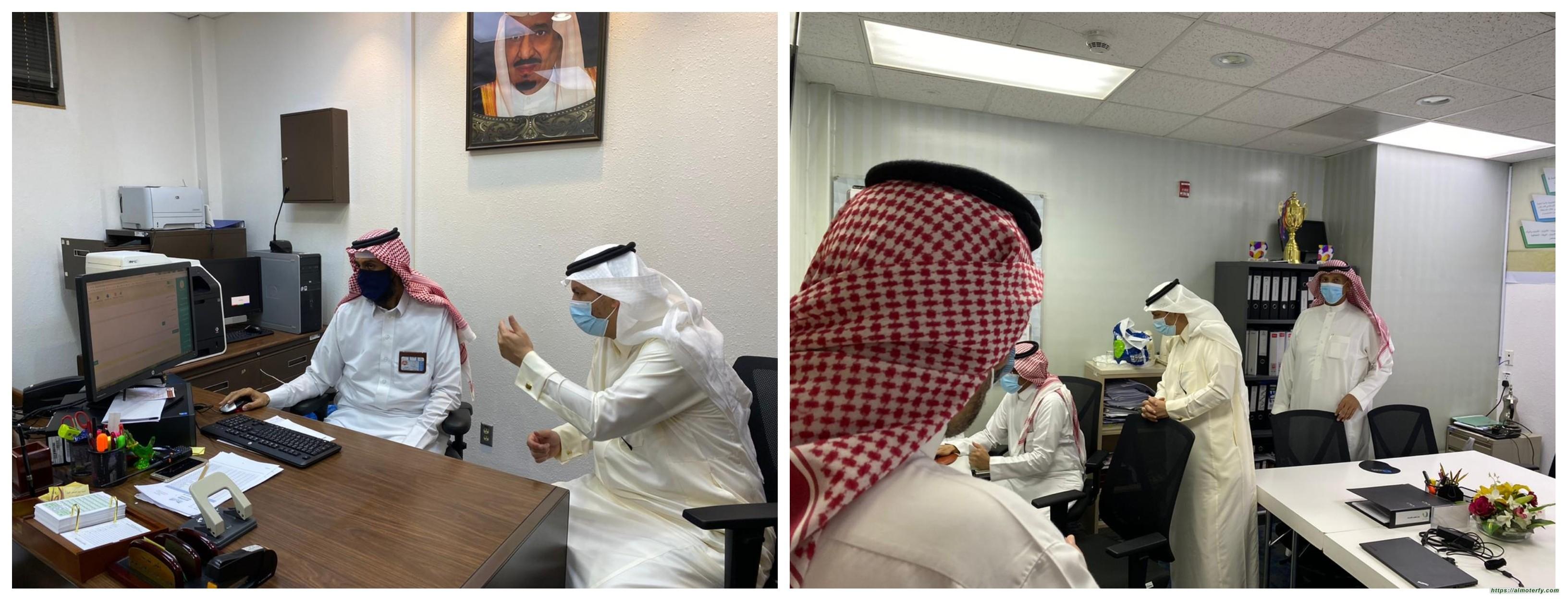 مدير تعليم الأحساء يزور ابتدائية الأمير محمد بن فهد  تزامناً مع بدء العام الدراسي ١٤٤٢ھ