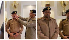 قائد دوريات أمن طرق الاحساء يقلد البقيشي رتبة الجديدة رئيس رقباء