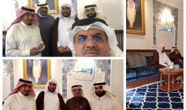 """سماحة السيد """"أبو عدنان """" وعددا من أعضاء المقهى الثقافي في ضيافة الاستاذ علي العباد"""