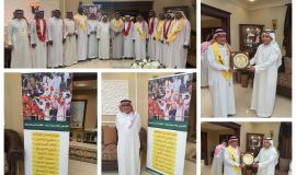 عضو شرف نادي القادسية بالخبر (عبدالوهاب الموسى يكرم السيد عبدالمحسن الهاشم (ابو لؤي)