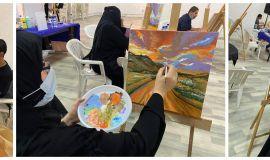 اختتام ورشة فن (الاكريلك) بثقافة وفنون الأحساء